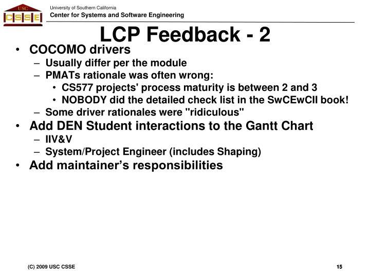 LCP Feedback - 2