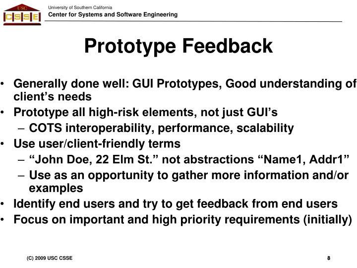 Prototype Feedback