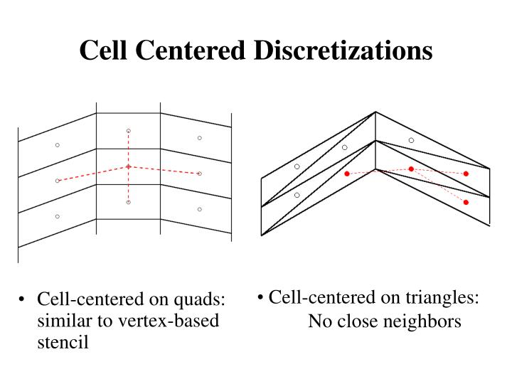 Cell Centered Discretizations