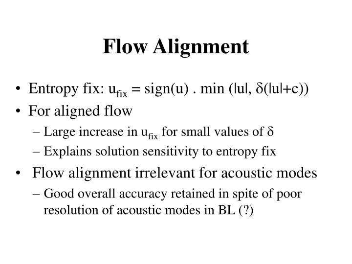 Flow Alignment