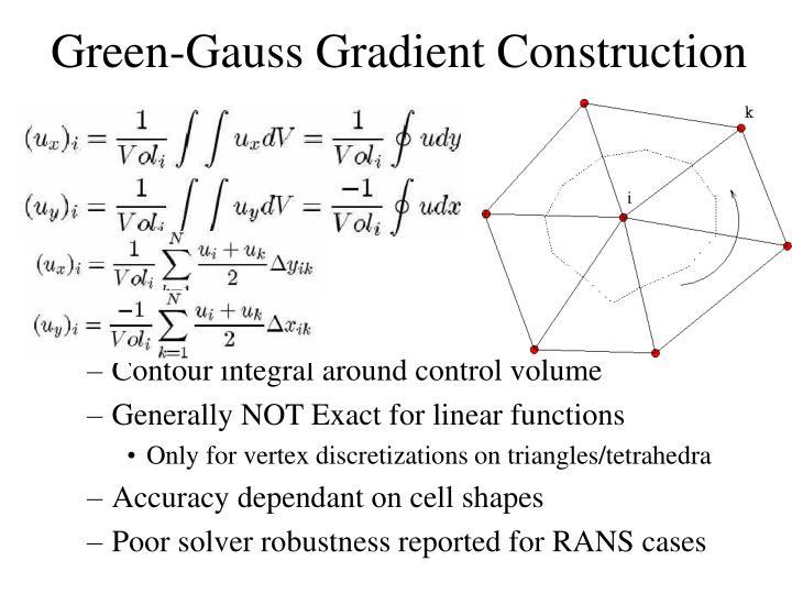 Green-Gauss Gradient Construction