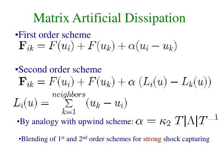 Matrix Artificial Dissipation