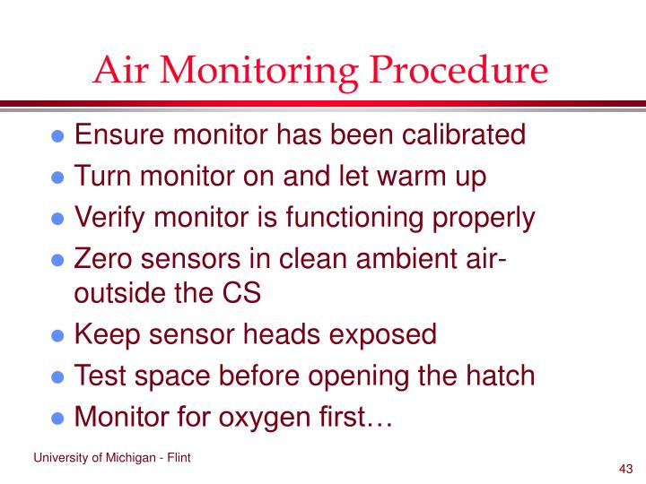 Air Monitoring Procedure