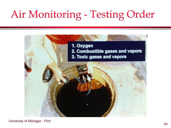 Air Monitoring - Testing Order