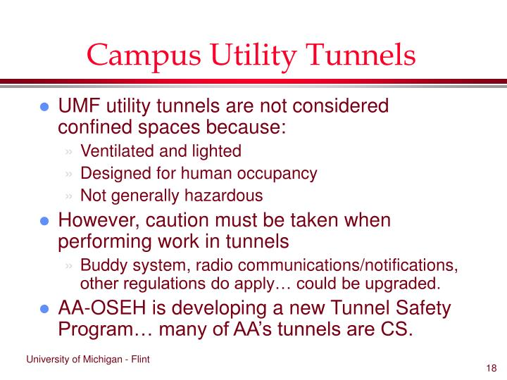 Campus Utility Tunnels
