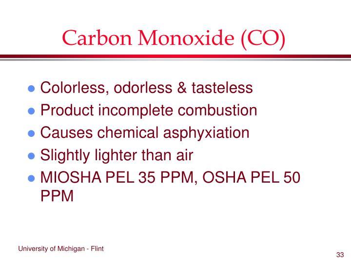 Carbon Monoxide (CO)