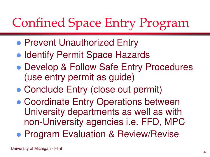 Confined Space Entry Program