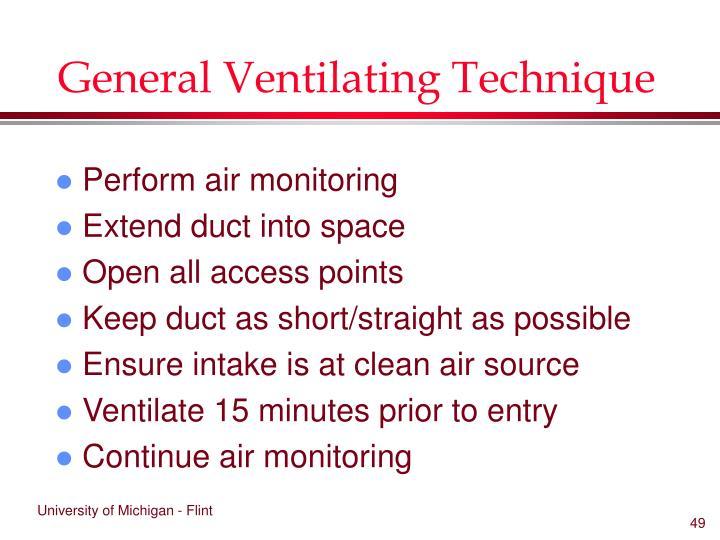 General Ventilating Technique