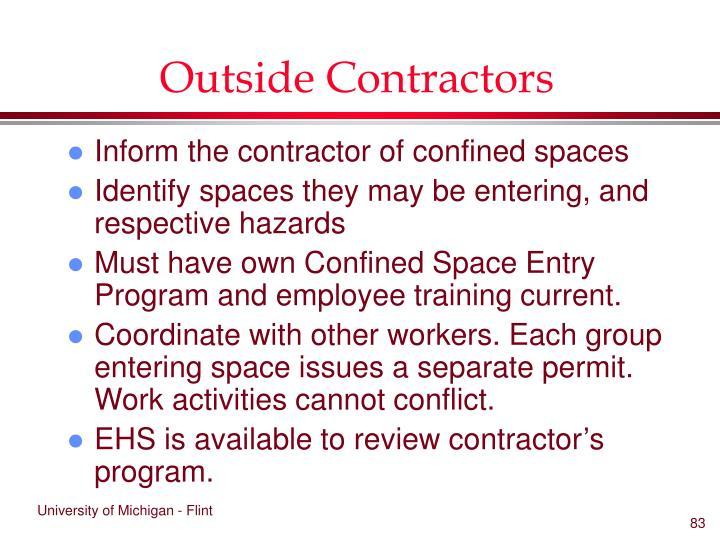 Outside Contractors
