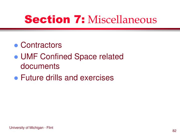 Section 7: