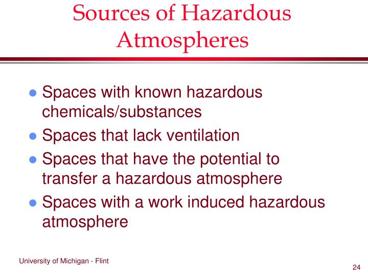 Sources of Hazardous Atmospheres