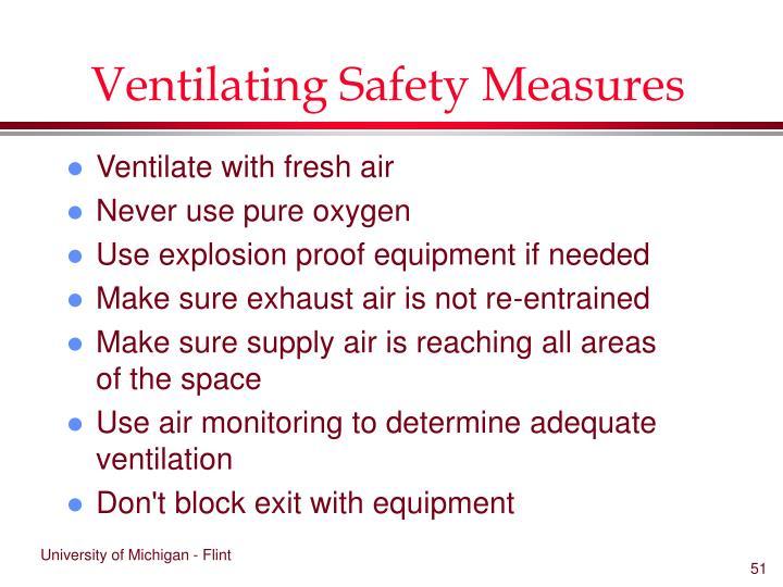 Ventilating Safety Measures