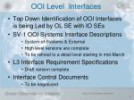 ooi level interfaces