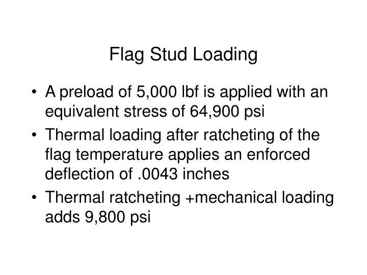 Flag Stud Loading