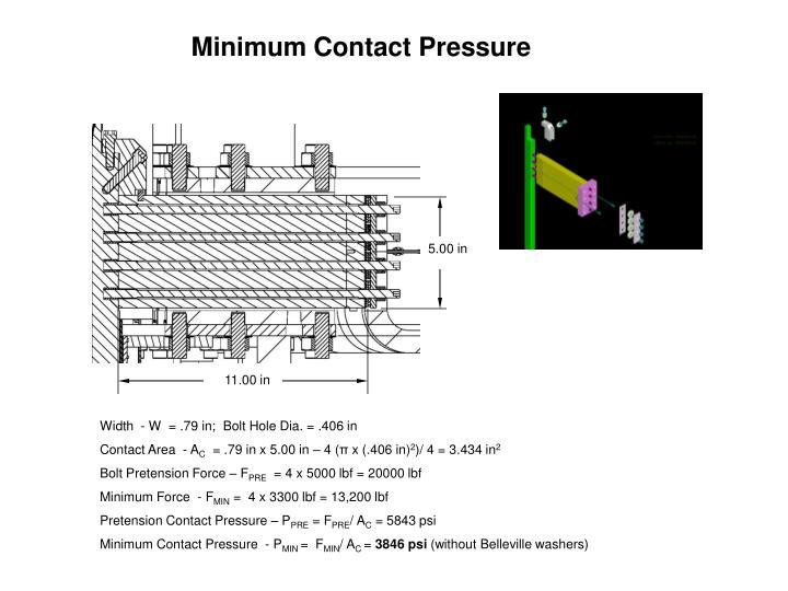 Minimum Contact Pressure