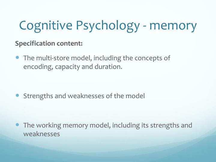 Cognitive psychology memory