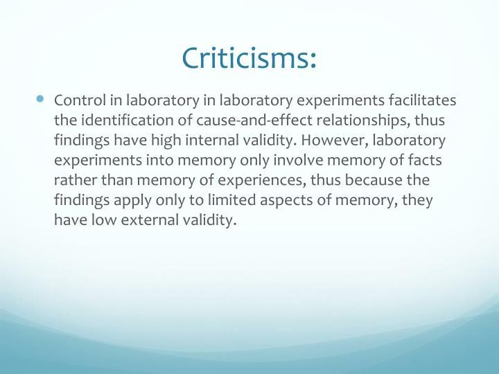 Criticisms: