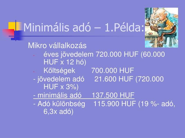Minimális adó –