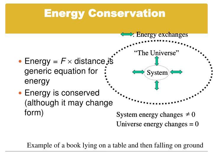 : Energy exchanges