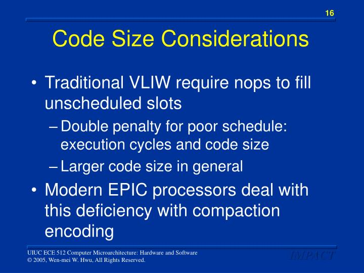 Code Size Considerations
