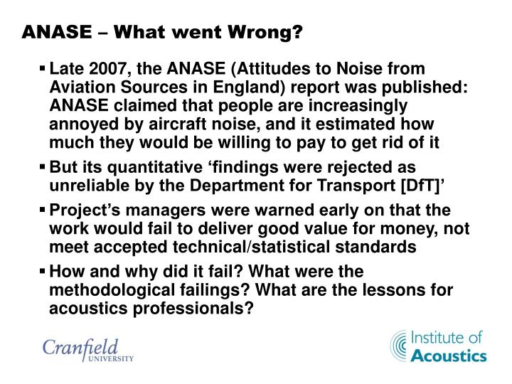 Anase what went wrong
