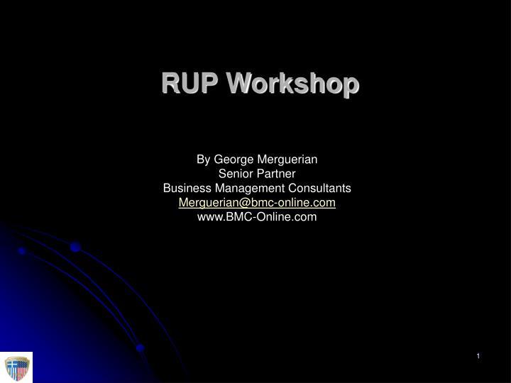 rup workshop n.