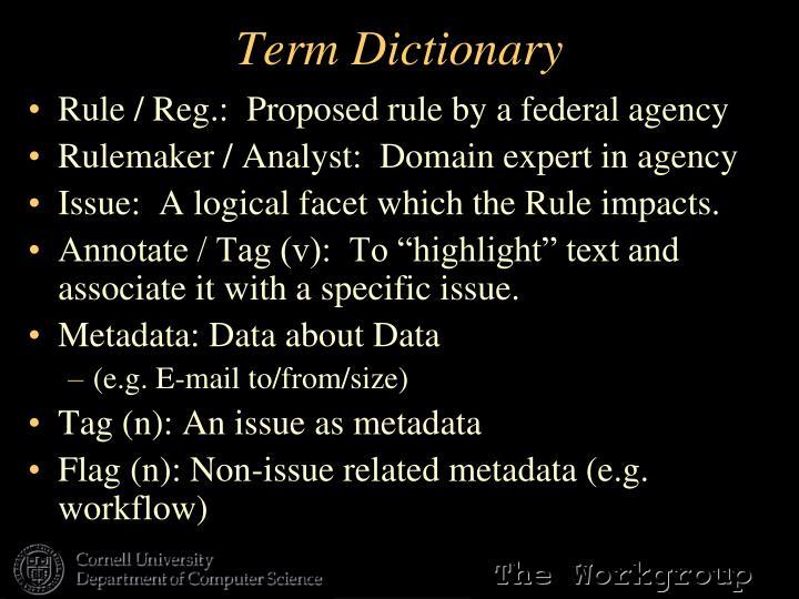 Term Dictionary