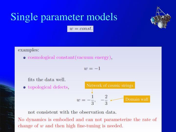 Single parameter models