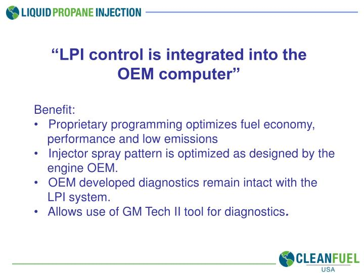 """""""LPI control is integrated into the OEM computer"""""""