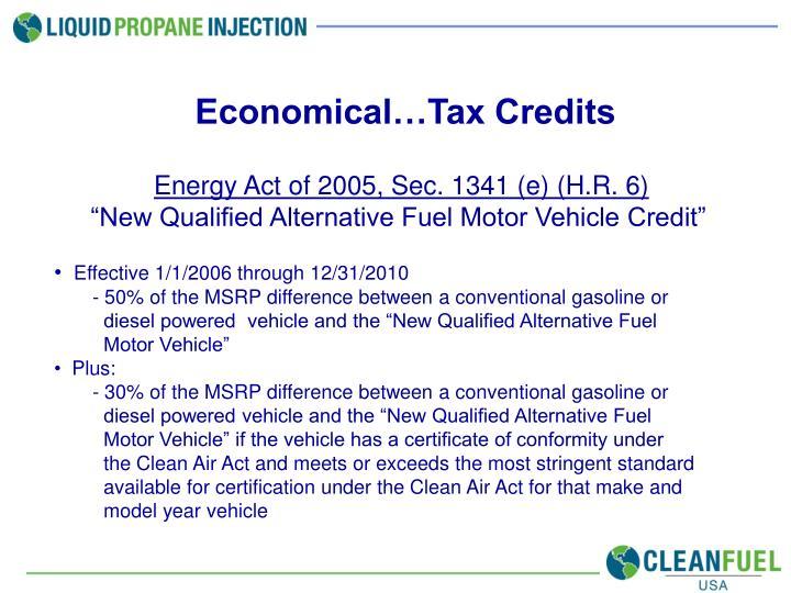 Economical…Tax Credits