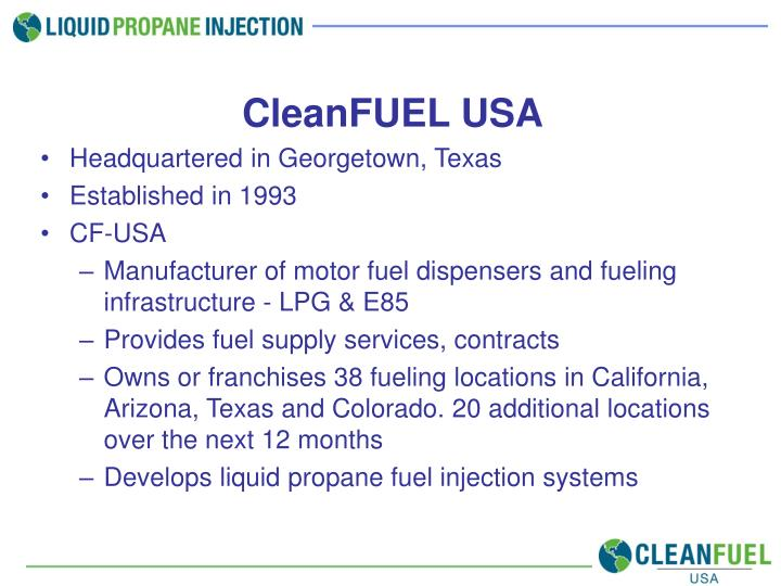 CleanFUEL USA