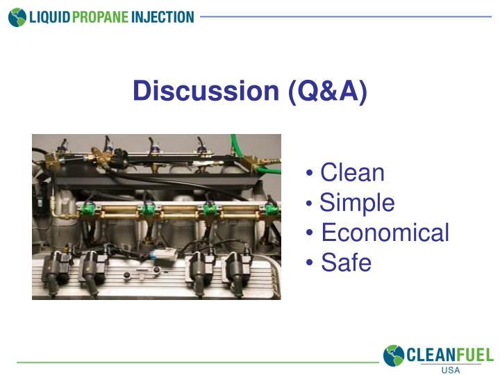 Discussion (Q&A)