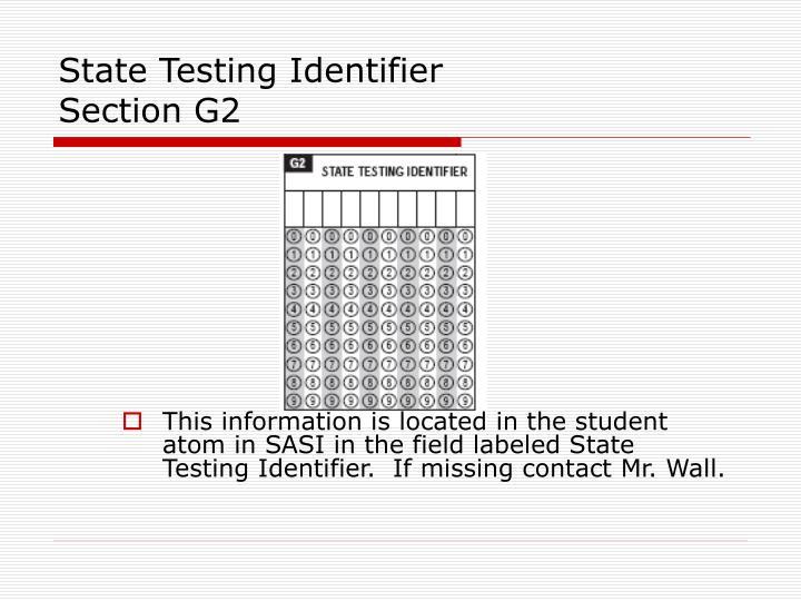 State Testing Identifier
