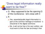 does legal information really want to be free