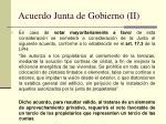acuerdo junta de gobierno ii