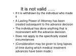 it is not valid