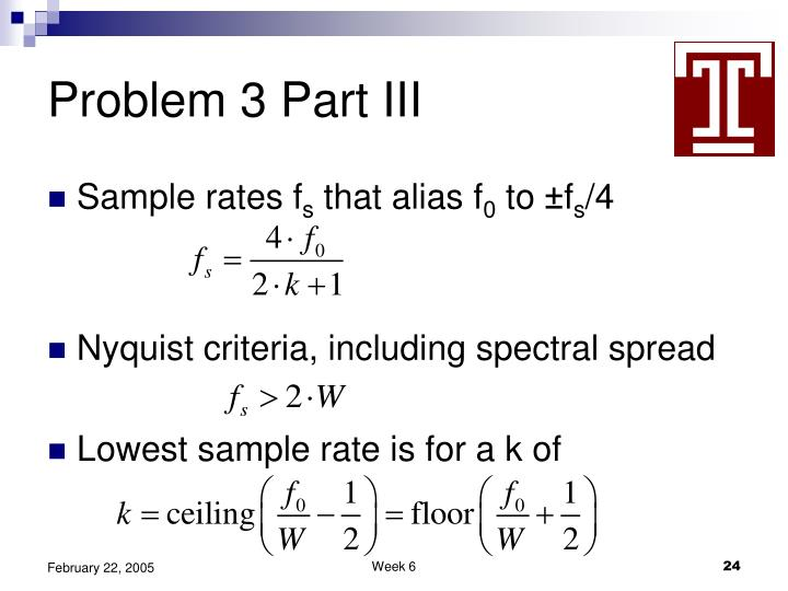 Problem 3 Part III