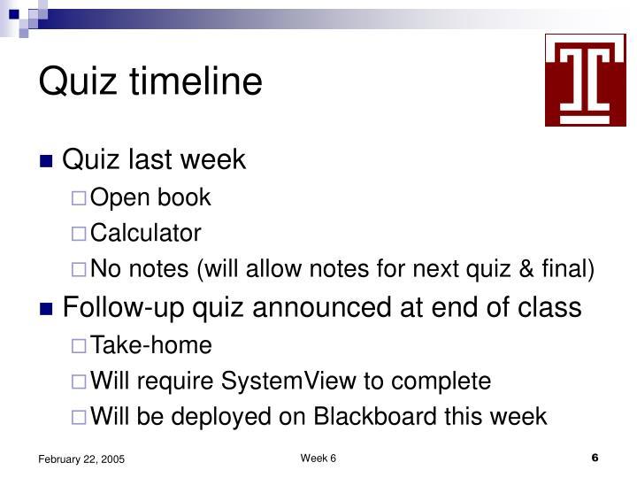 Quiz timeline