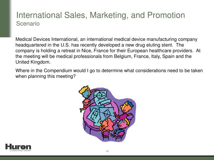 International Sales, Marketing, and Promotion