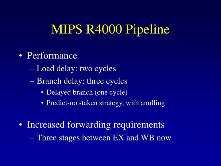MIPS R4000 Pipeline