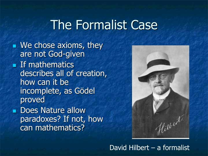 The Formalist Case