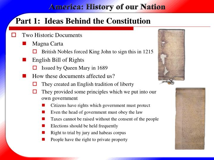 Part 1 ideas behind the constitution1