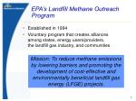 epa s landfill methane outreach program