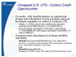 untapped u s lfg carbon credit opportunities