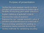 purpose of presentation