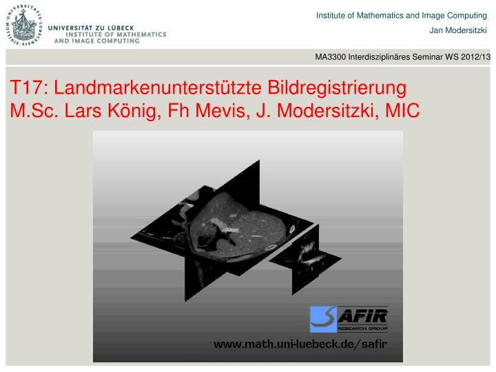 T17: Landmarkenunterstützte Bildregistrierung