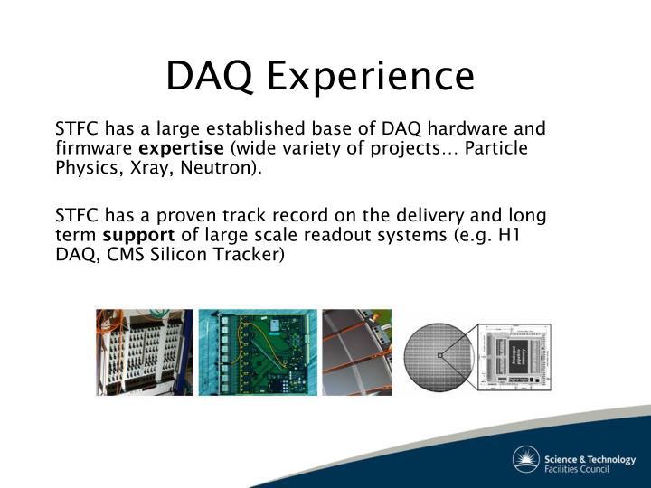DAQ Experience