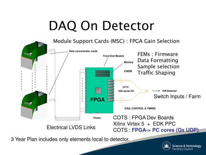 DAQ On Detector