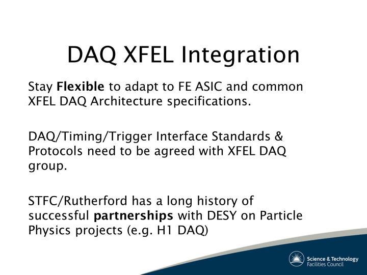DAQ XFEL Integration