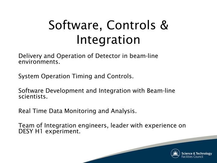 Software, Controls & Integration